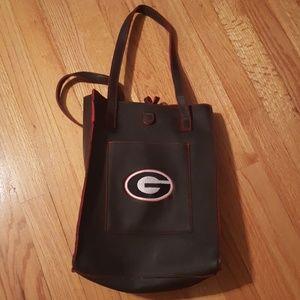 Leather Georgia Bulldogs purse / tote
